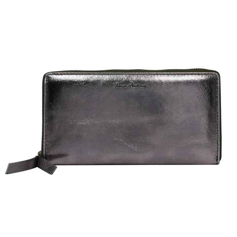 Dámská lesklá kožená peněženka Júlia černá