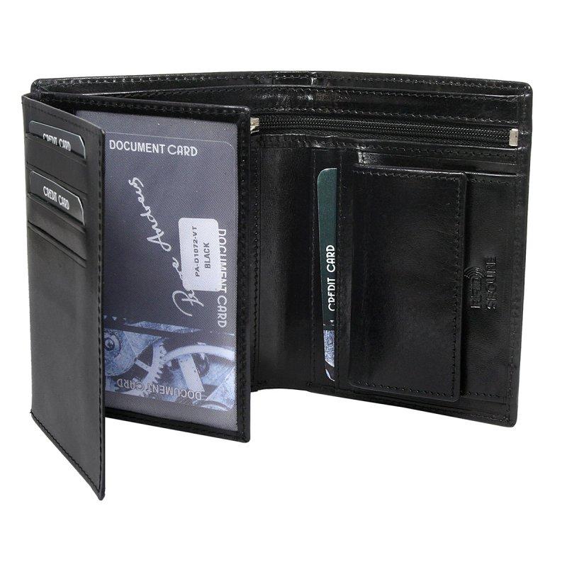 Luxusní pánská kožená peněženka černá Jean