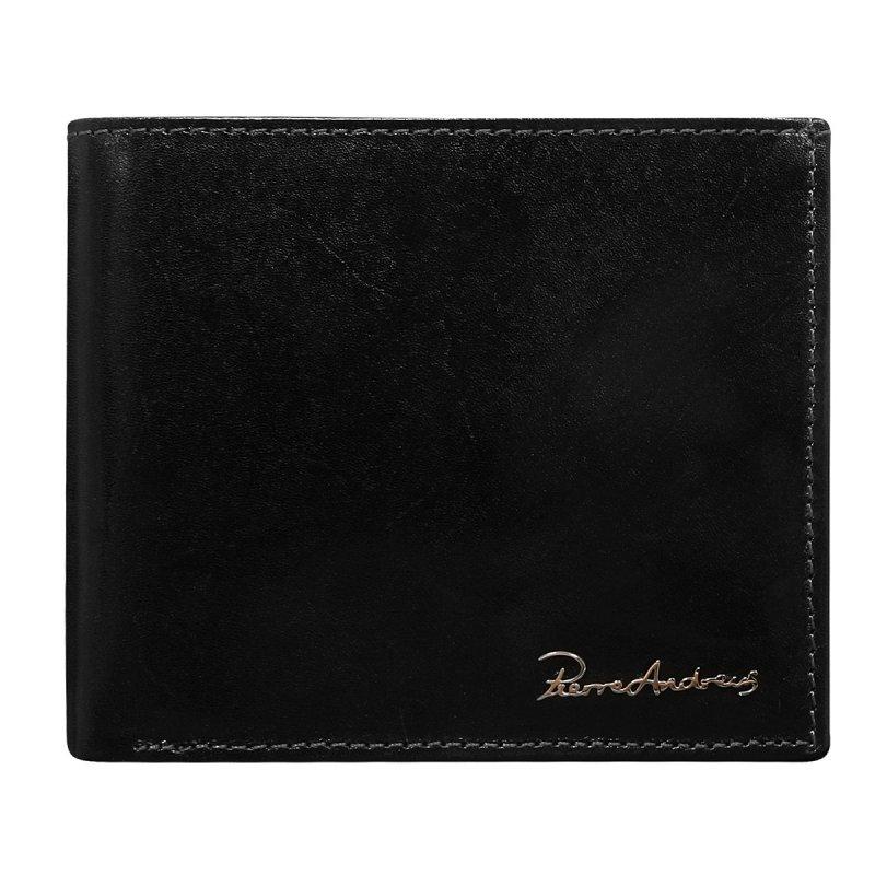 Luxusní pánská kožená peněženka černá Hugo