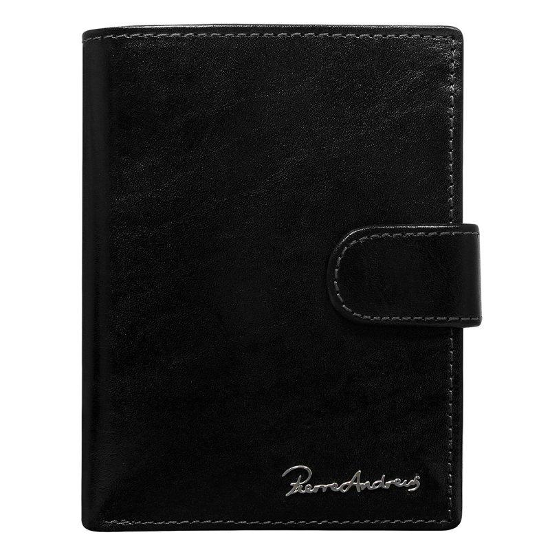 Luxusní pánská kožená peněženka černá s cvočkem Jean