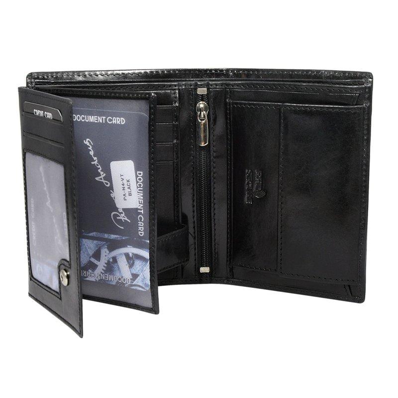 Luxusní pánská kožená peněženka černá André