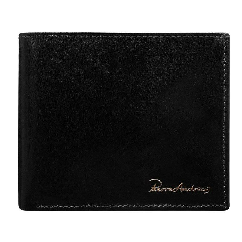 Luxusní pánská kožená peněženka černá Notre Dame