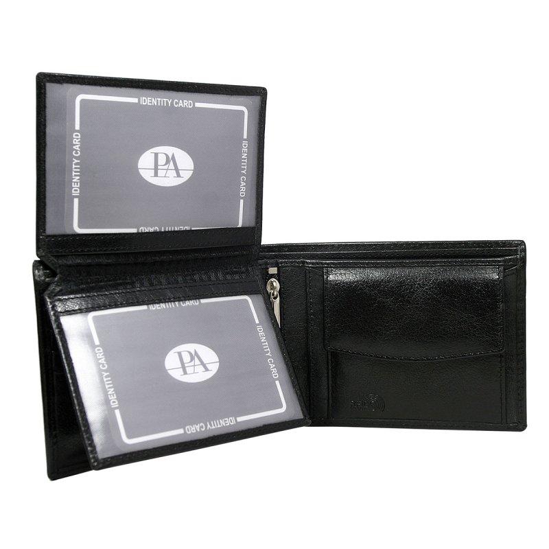 Luxusní pánská kožená peněženka černá Jean Pierre