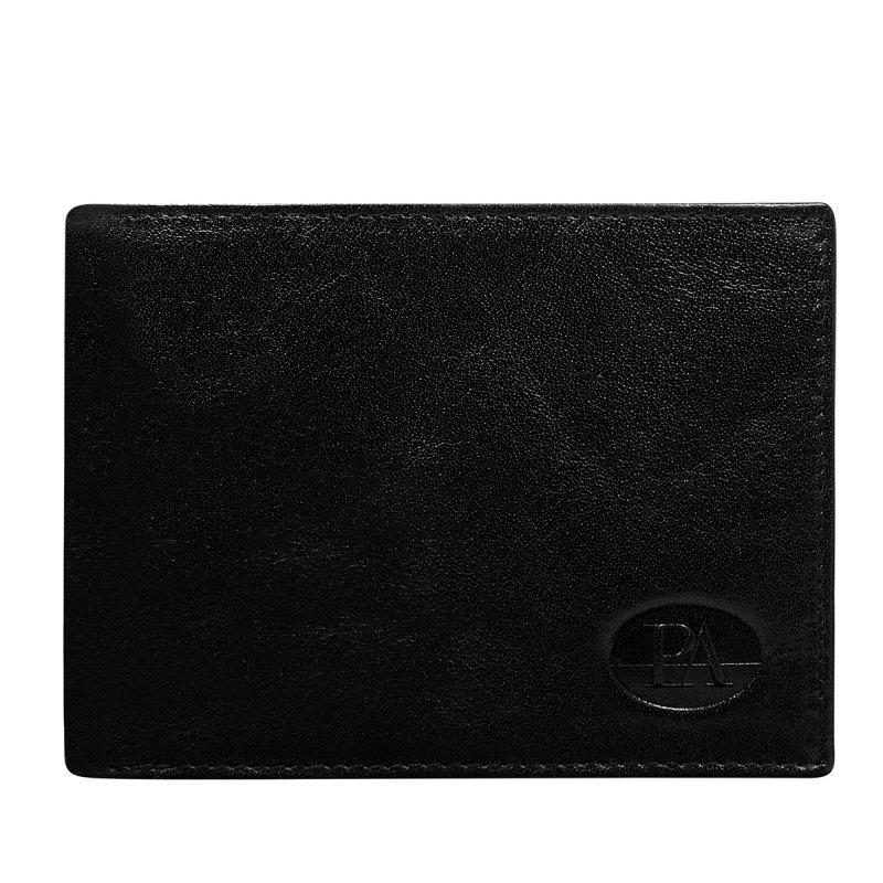 Luxusní pánská kožená peněženka černá Fillipo