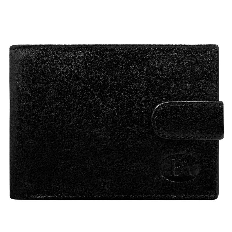 Luxusní pánská kožená peněženka černá s cvočkem Fillipo