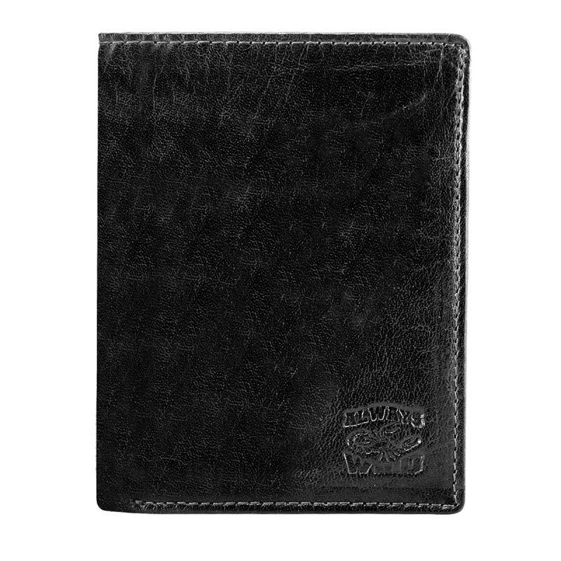 Prostorná kožená pánská peněženka černá Jimmy