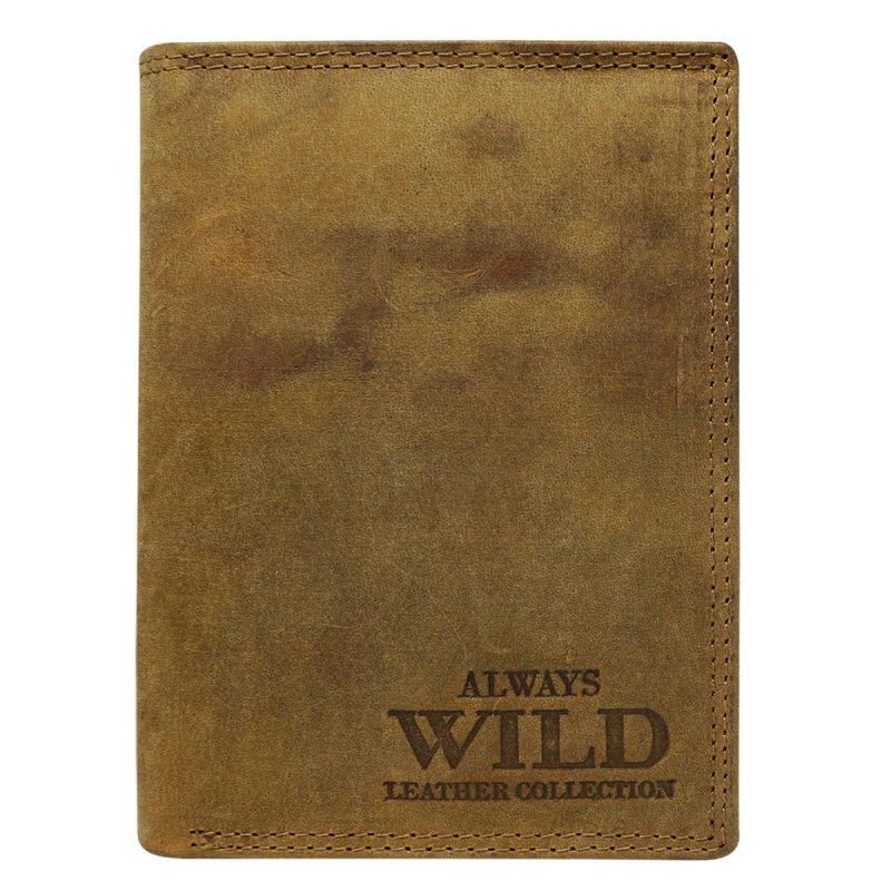 Moderní kožená pánská peněženka hnědá George