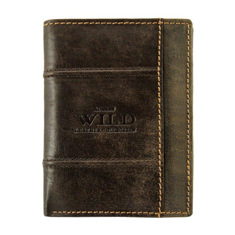 Moderní pánská kožená peněženka hnědá Franklin