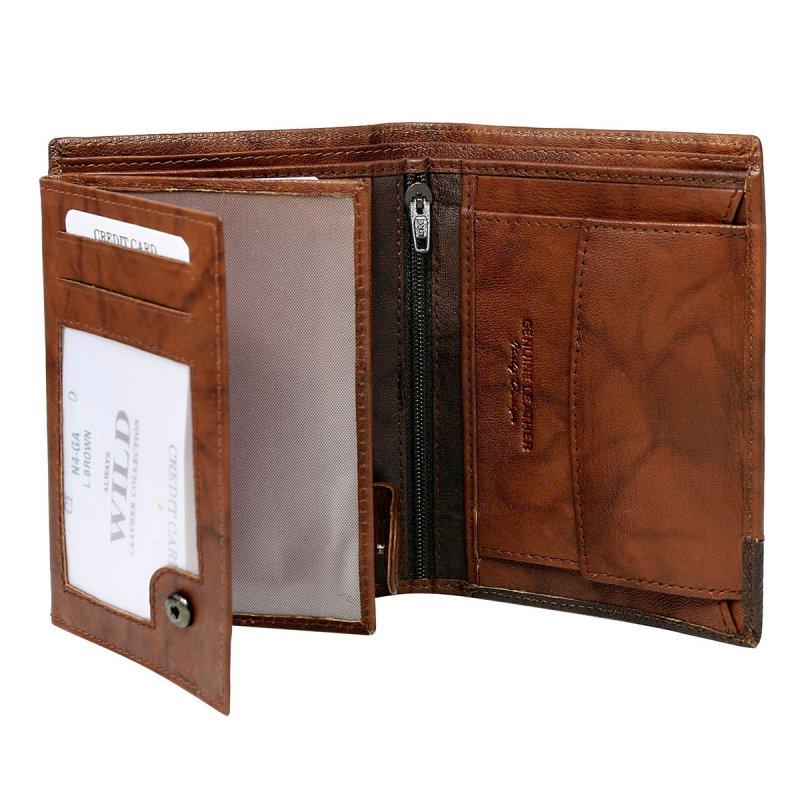 Extravagantní kožená pánská peněženka hnědá  Romeo