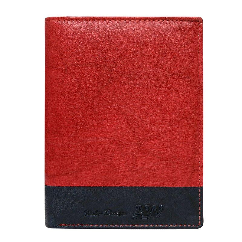 Extravagantní kožená pánská peněženka černo červená  Romeo