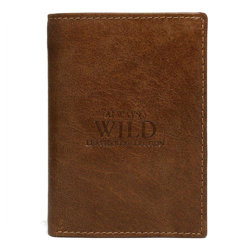 Elegantní kožená pánská peněženka hnědá Stefan