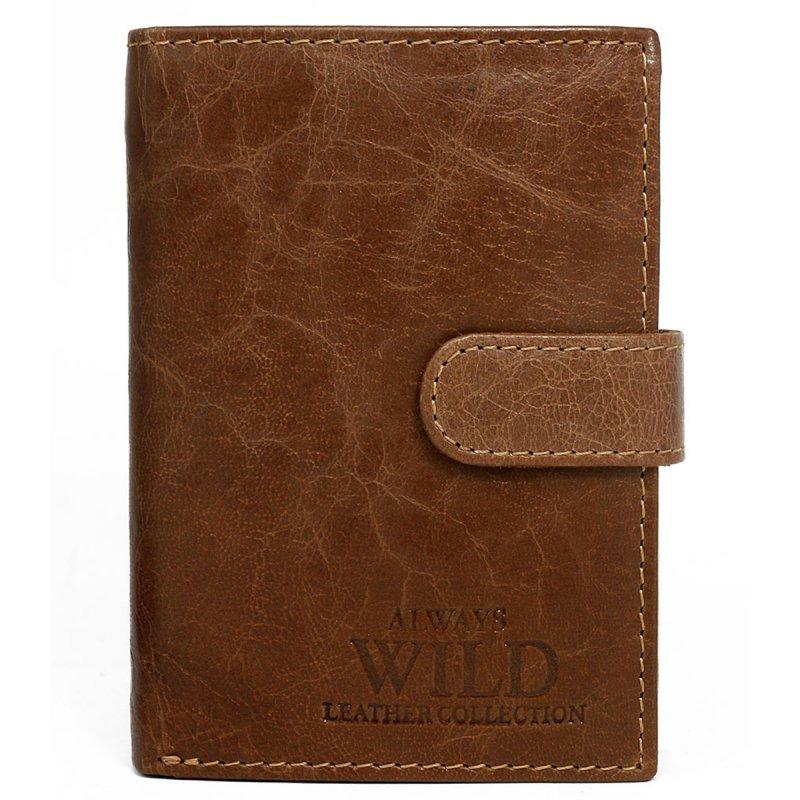 Elegantní kožená pánská peněženka hnědá s cvočkem Maestro