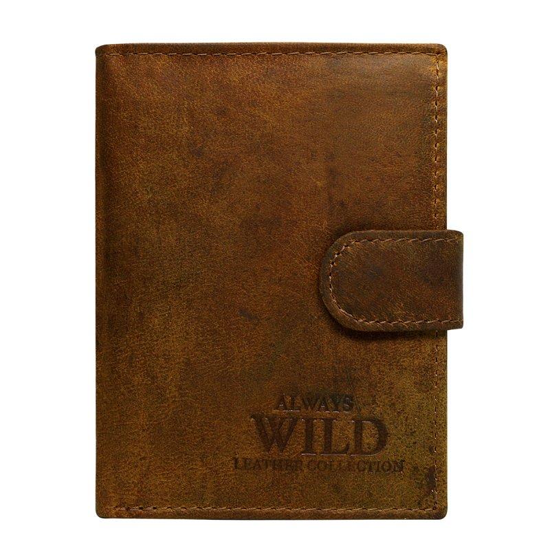 Elegantní kožená pánská peněženka hnědá Monte