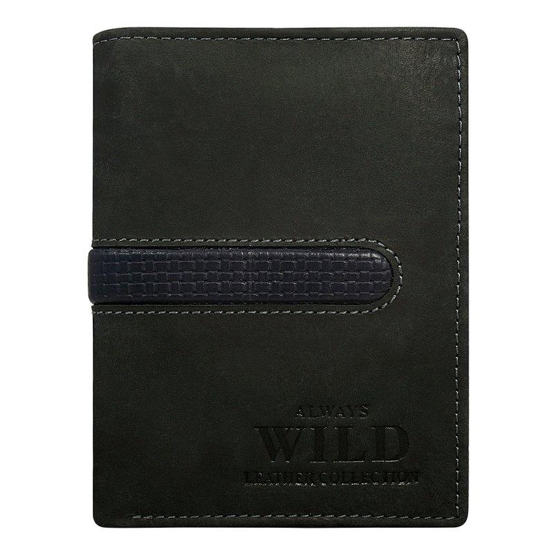Módní pánská kožená peněženka Daniel černá