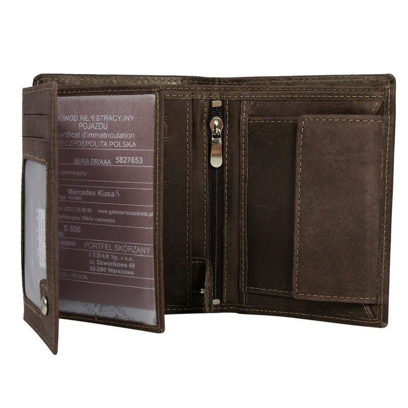 Módní pánská kožená peněženka Daniel hnědá