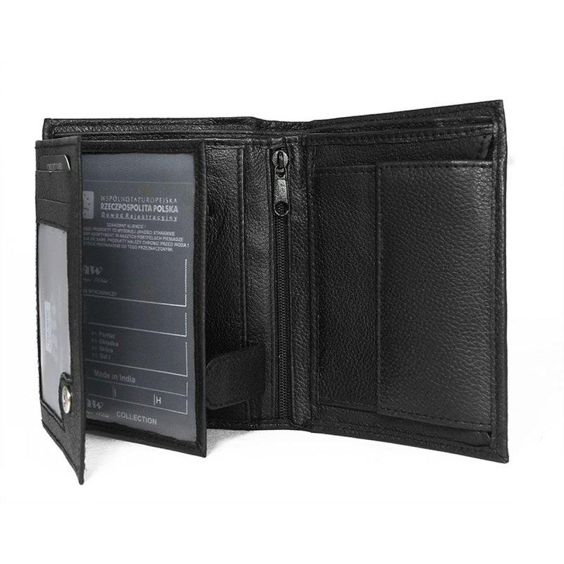 Pánská kožená peněženka Eliáš černá/modrá