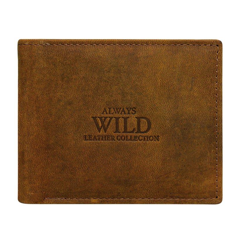 Stylová pánská kožená peněženka Ilja hnědá