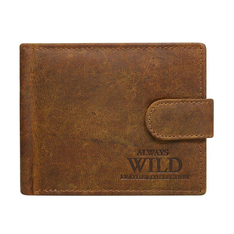 Pánská kožená peněženka se zapínáním Čeněk hnědá