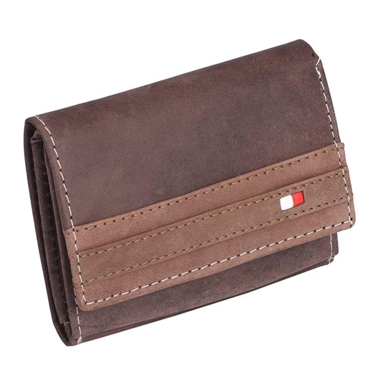 Módní kožená pánská peněženka Drahomír hnědá