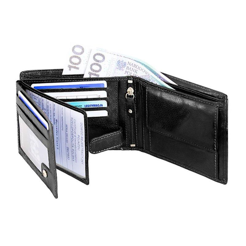 Stylová pánská kožená peněženka Luboš černá