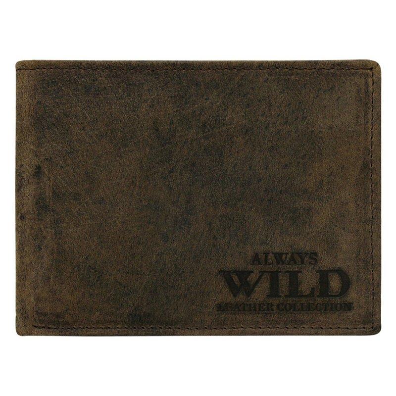 Stylová pánská kožená peněženka Luboš hnědá