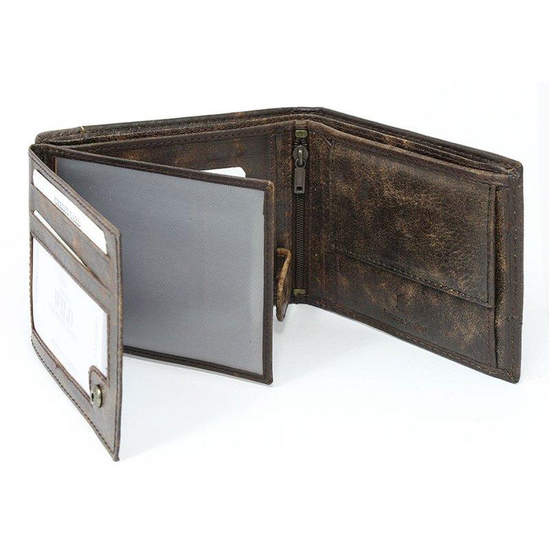 Trendy pánská kožená peněženka Henrich hnědá
