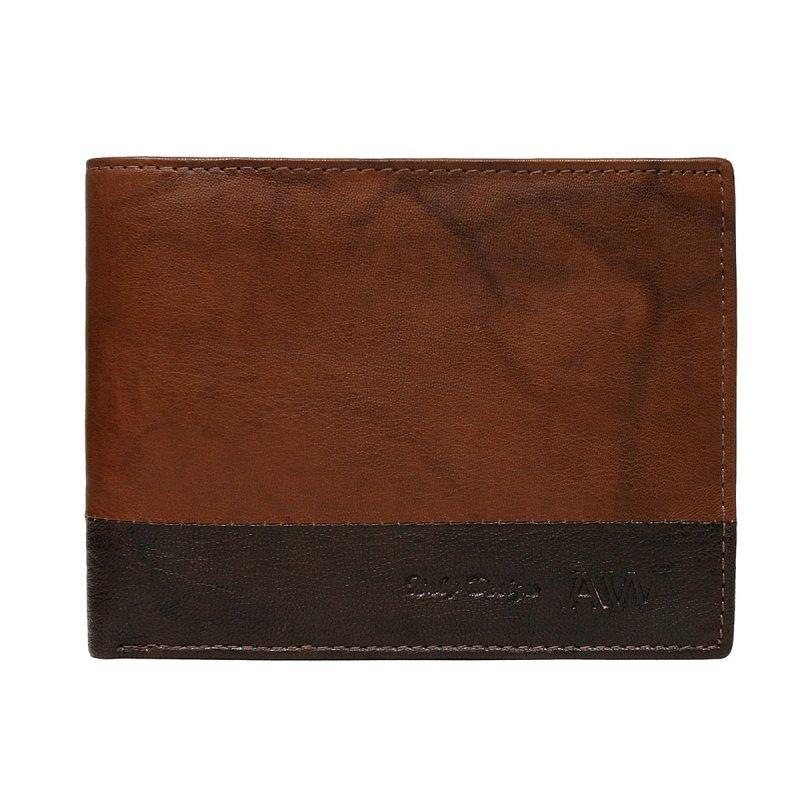 Extravagantní kožená pánská peněženka hnědá Isom