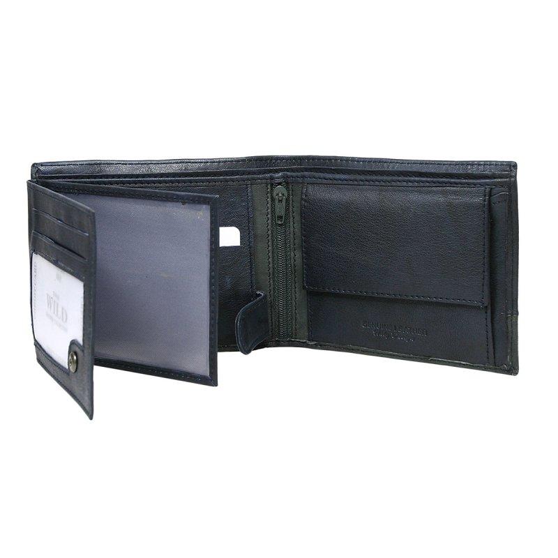 Extravagantní kožená pánská peněženka modrá Isom
