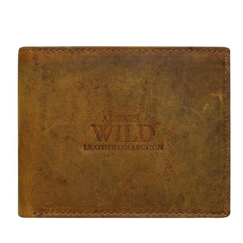 Elegantní kožená pánská peněženka hnědá Emilio