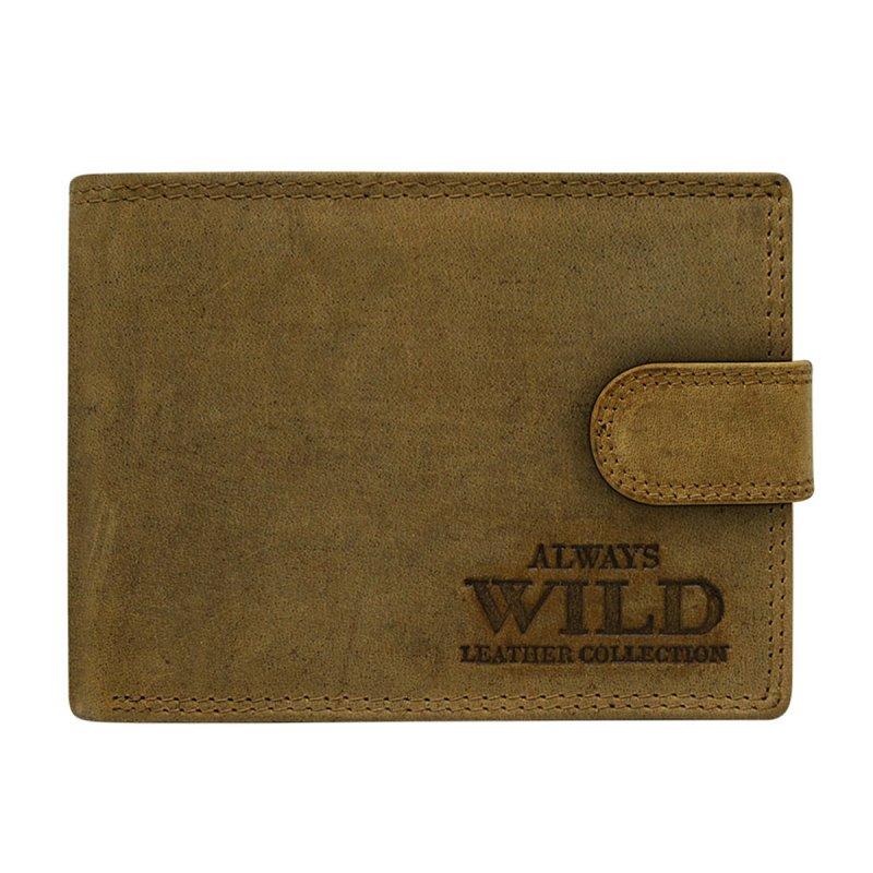 Elegantní kožená pánská peněženka koňaková s cvočkem  Junio