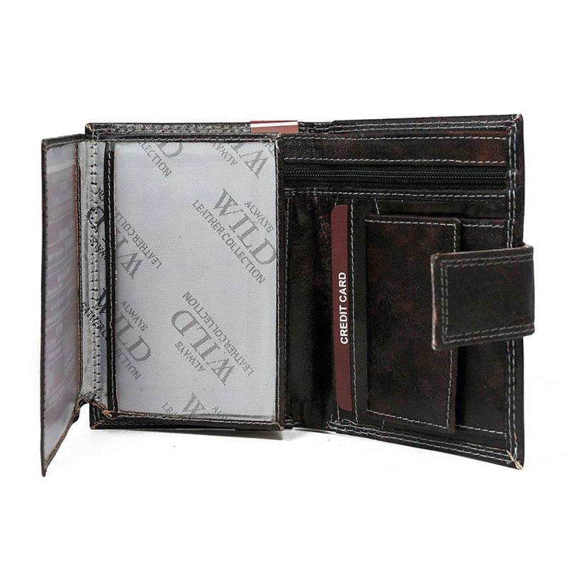 Exkluzivní kožená pánská peněženka černá s cvočkem Nero