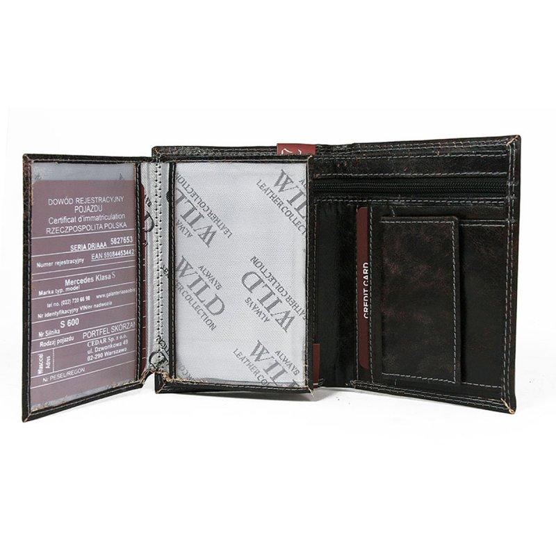 Exkluzivní kožená pánská  peněženka černá Nero