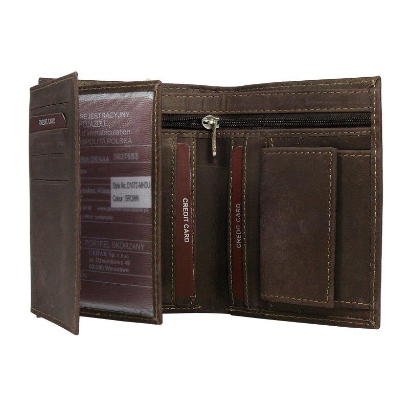 Moderní kožená pánská peněženka hnědá Milan