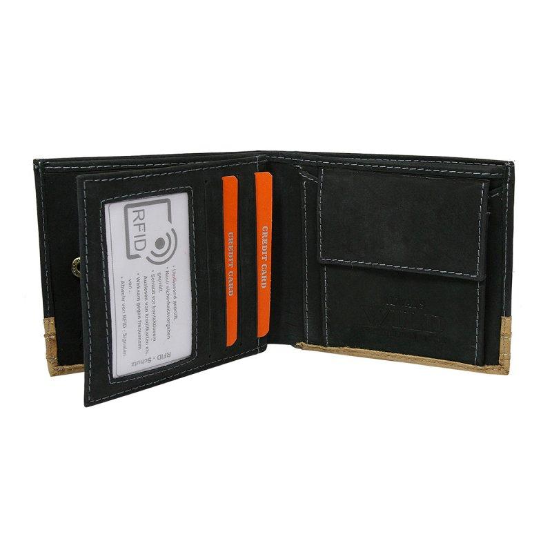 Moderní kožená peněženka černá Tommy
