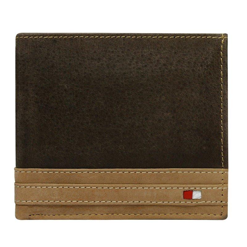 Moderní kožená peněženka hnědá Tommy