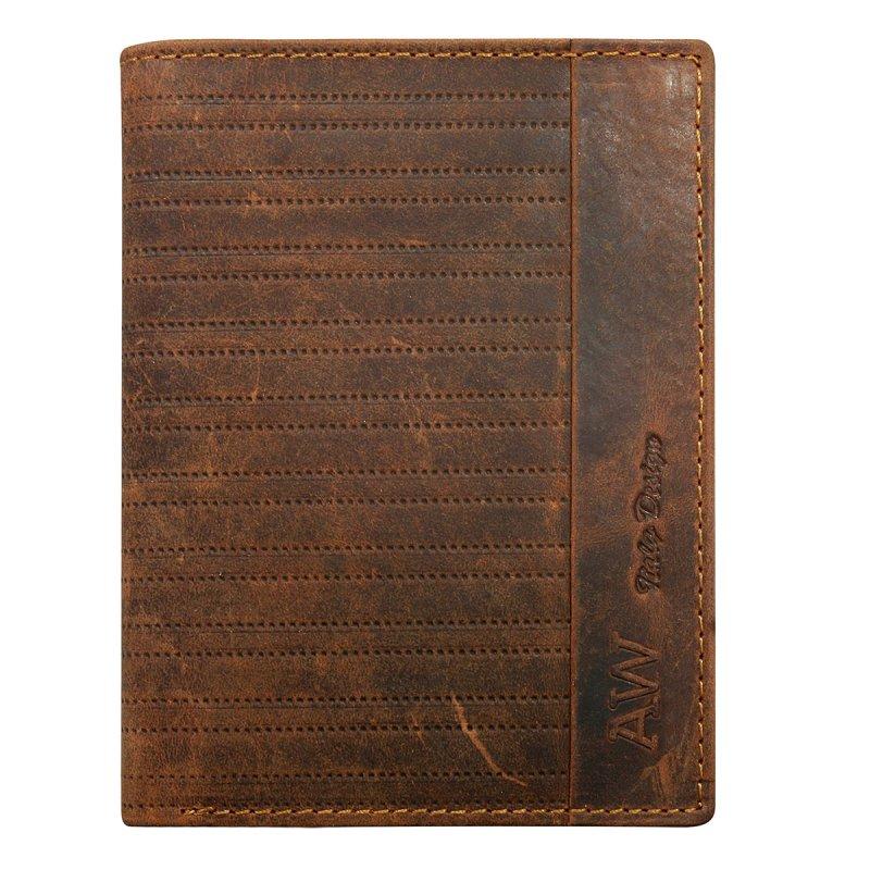 Business pánská kožená peněženka hnědá Ivo