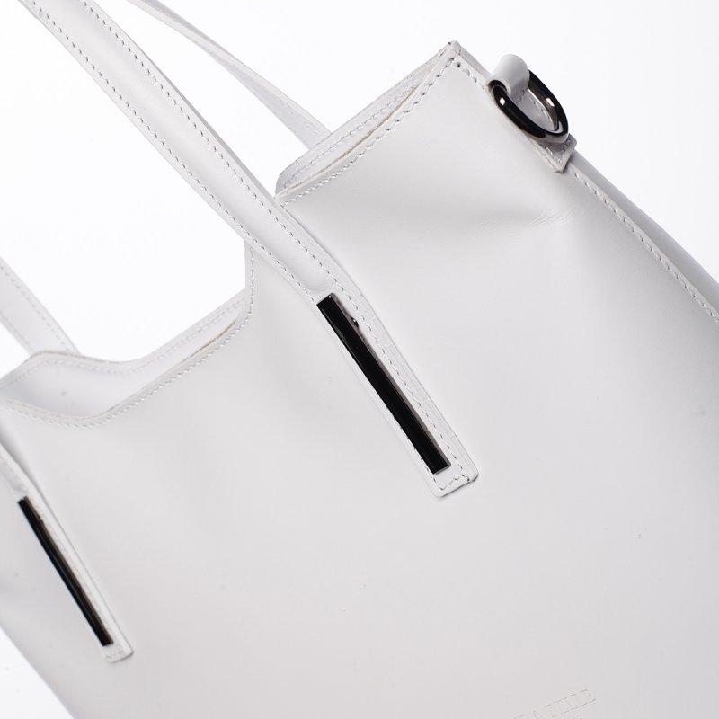Luxusní dámská kožená kabelka Gizela bílá