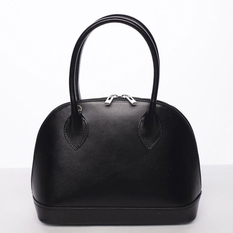 Dámská kožená kufříková kabelka Aneta černá