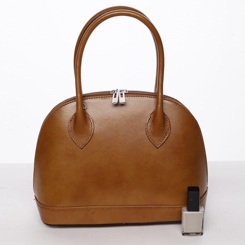 Dámská kožená kufříková kabelka Aneta koňaková