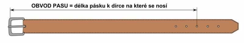 Dámský kožený opasek Anastázie červený vel. 90