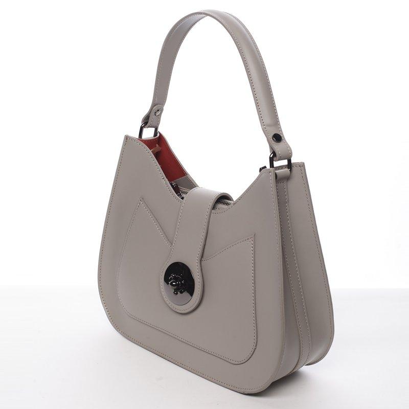 Elegantní dámská kožená kabelka Anabela grey