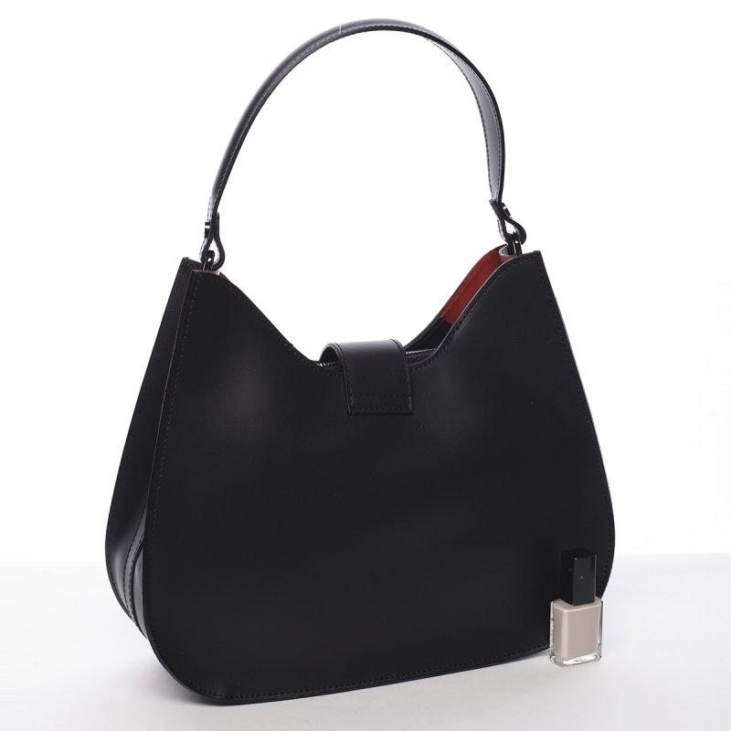 Elegantní dámská kožená kabelka Anabela black