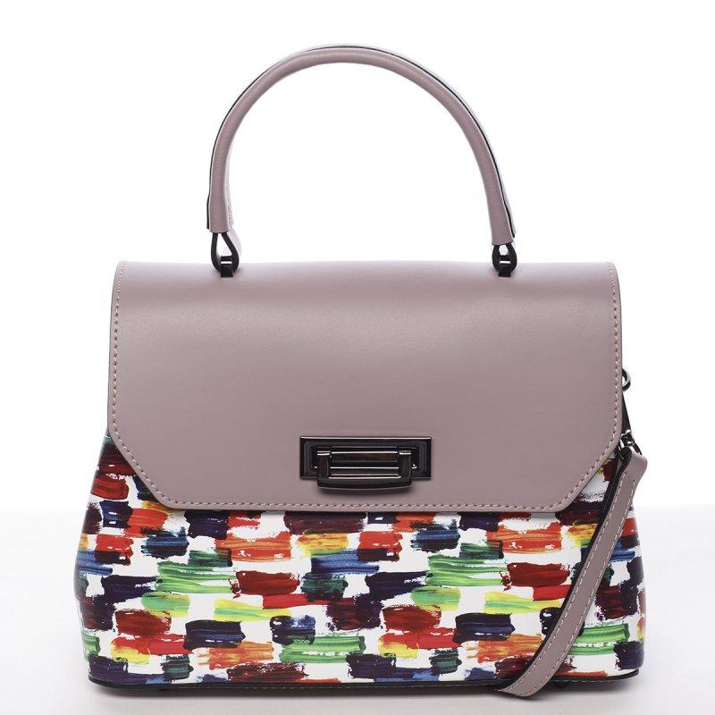 Extravagantní kožená dámská kabelka purpurová Ingrid