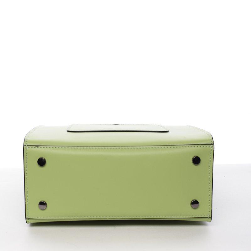 Módní dámská kožená kabelka Melánia zelená