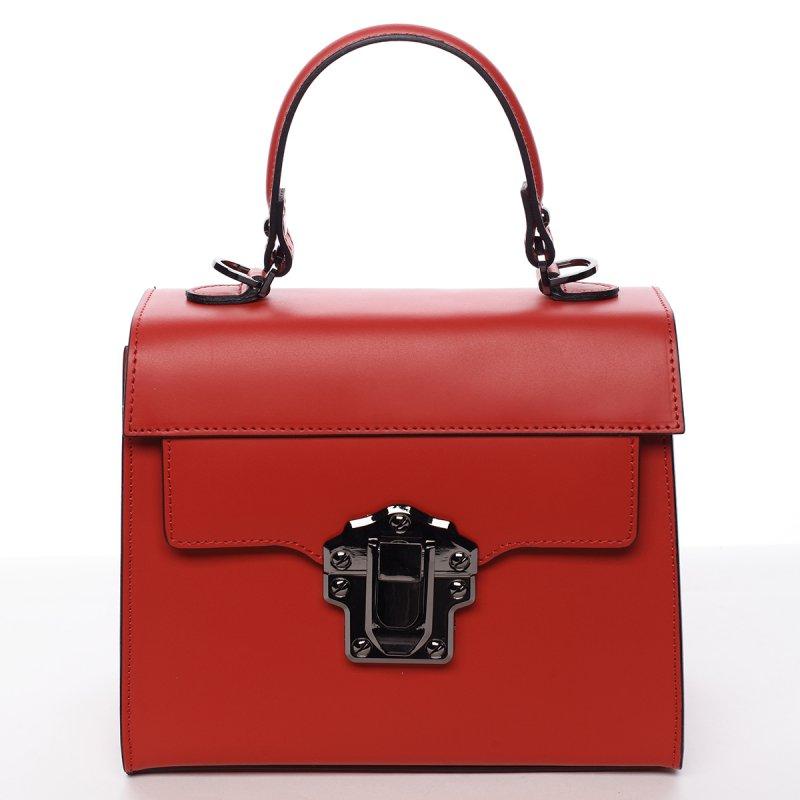Módní dámská kožená kabelka Melánia červená