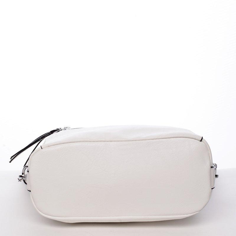 Módní praktická dámská kabelka Jelena bílá