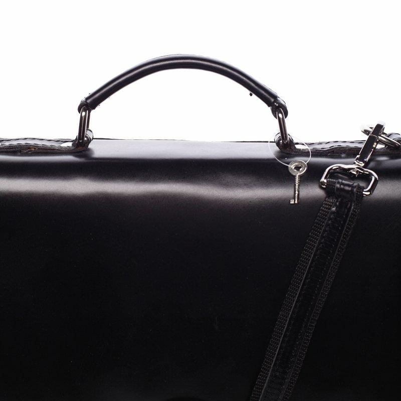 Pánská kožená aktovka černá Ivoš