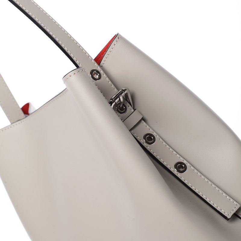 68e53cee9 Módní dámská kožená kabelka Janka béžová