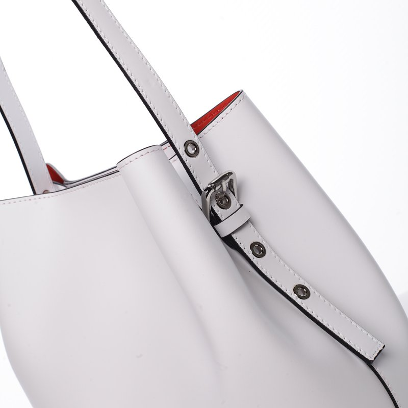 d8a58f476 Módní dámská kožená kabelka Janka bílá