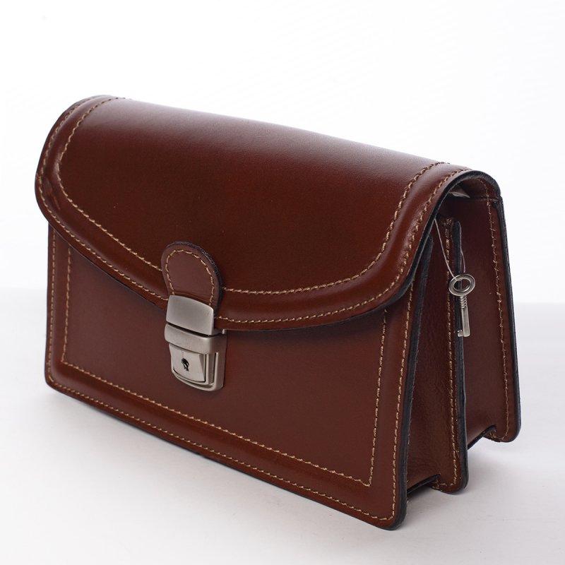 Pánská kožená taška do ruky Otakar koňaková